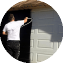 garage door looking like new professionally painted